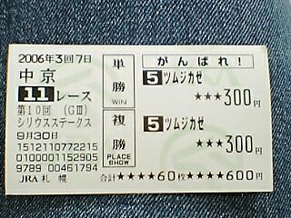 がんばれツムジカゼ!