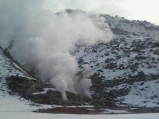 硫黄山と温泉ハシゴ