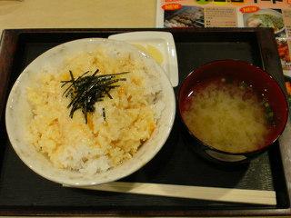 「たまらん堂」の卵かけご飯