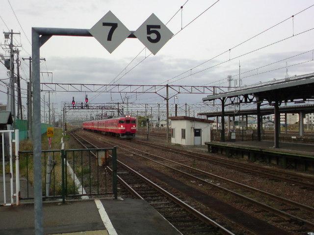今日は電車通勤