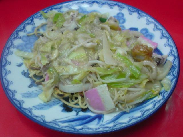 佐世保で皿うどん(太麺)