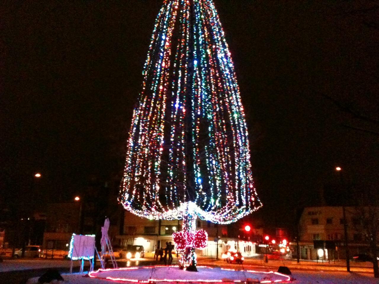 岩見沢駅前のクリスマス